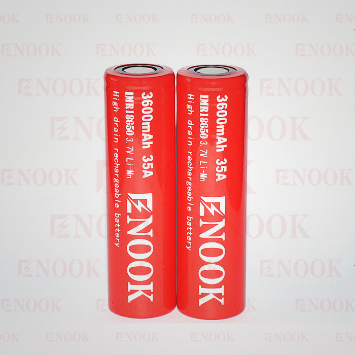 Enook 18650 3600mAh 35A high drain 3.7V rechargeable li-mn battery for buy bulk electronics
