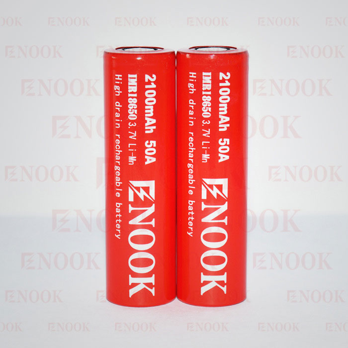 High drain 18650 50A battery batteries Enook 18650 2100mAh 50A lithium battery