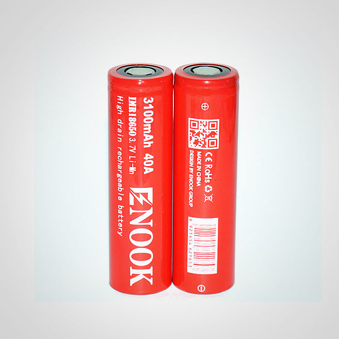 Enook 18650 3100mah 40A high drain rechargeable battery
