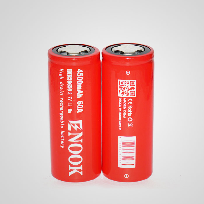 Enook 26650 4500mAh 60A IMR rechargeable li-ion battery 26650 lithium battery