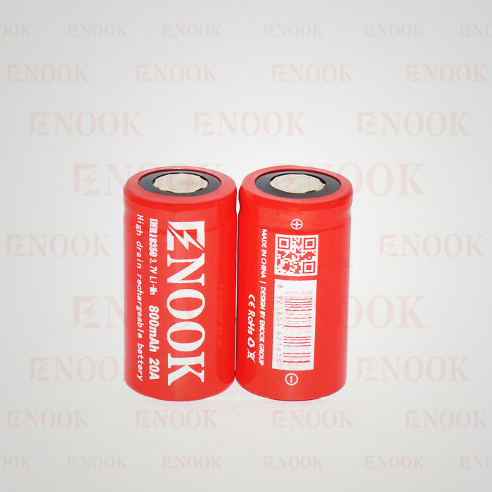 Enook 18350 800mAh 20A 3.7V high capacity rechargeable Li-M battery for vaporshark pk brillpower battery