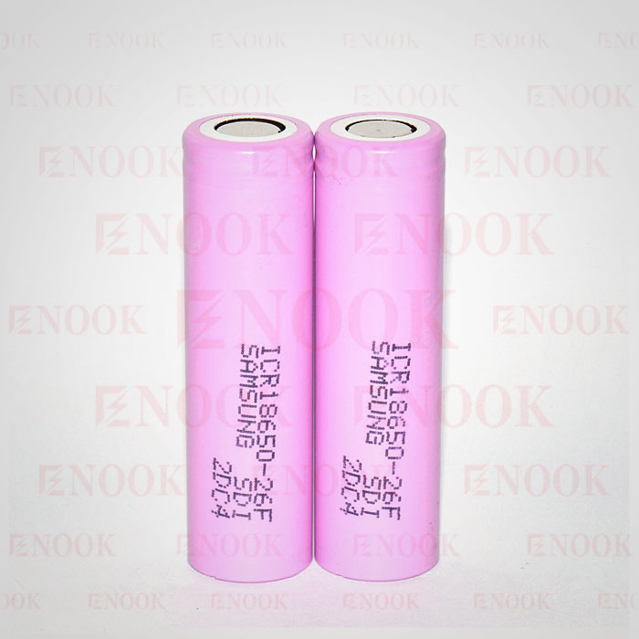Good quality ICR-26F 2600mAh li-ion battery electric scooter 18650 sansung 26F rechargeable battery