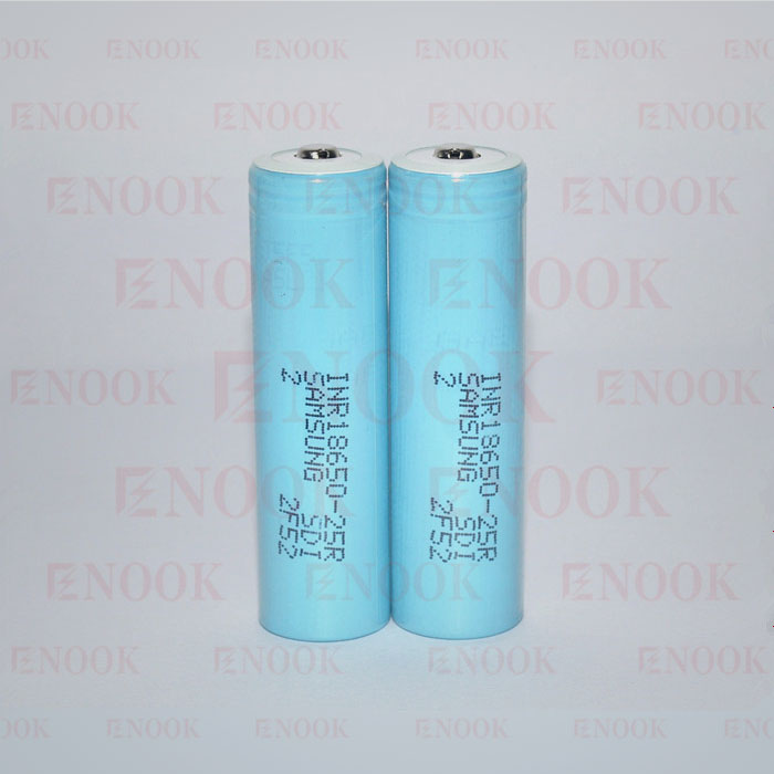 Light 18650 Blue Samung 25R 2500mah 20A 3.7v battery
